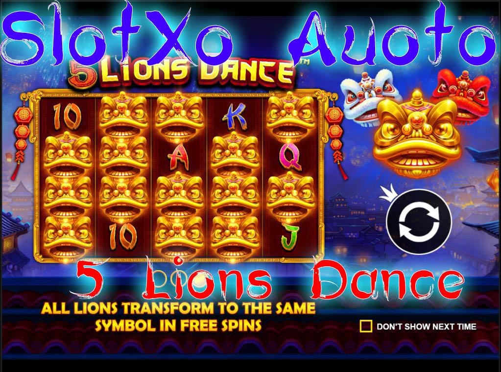 รีวิวสล็อต 5 Lions Dance!